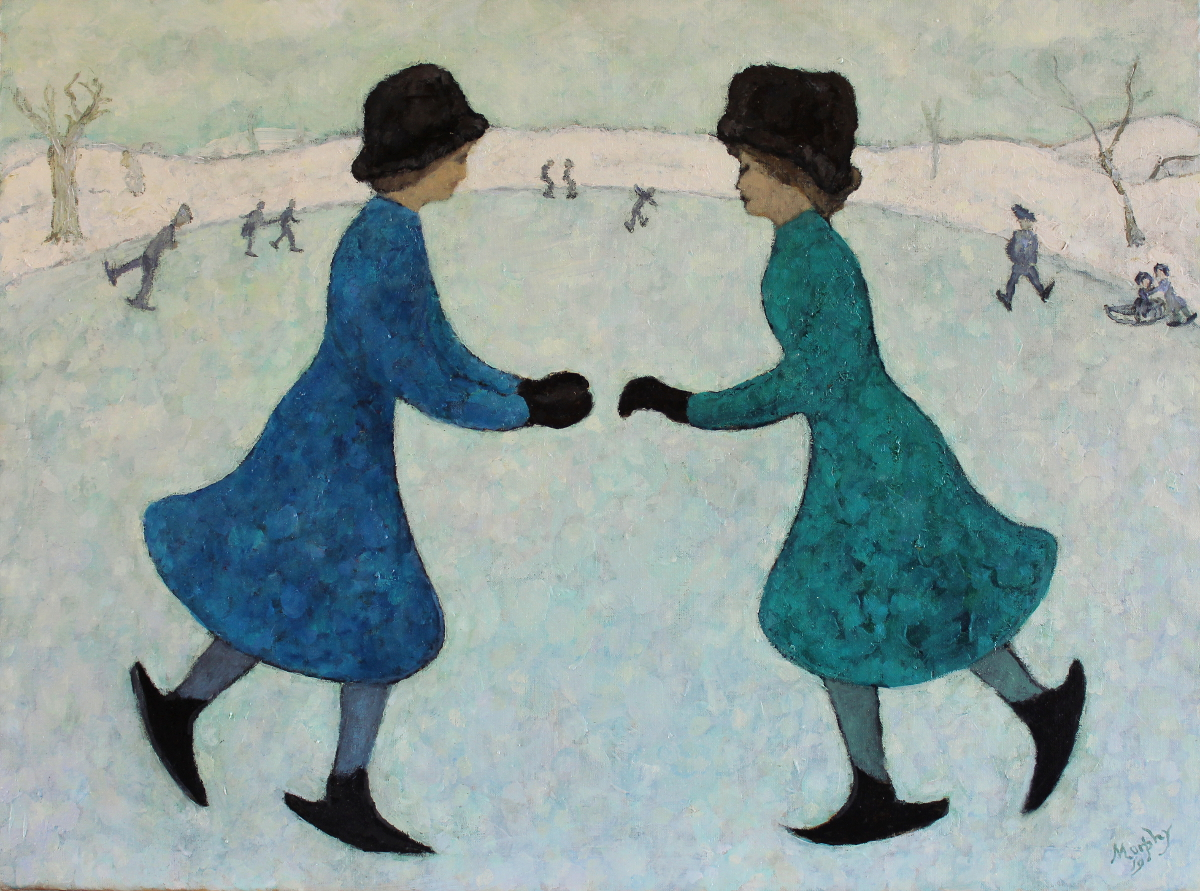 Two Sisters on Hard Water 81 x 60 cm - web