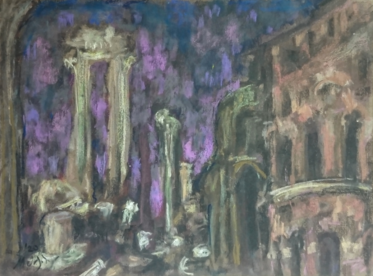Rome-the-Ruins-35-x-29-cm-pastel-on-paper-web