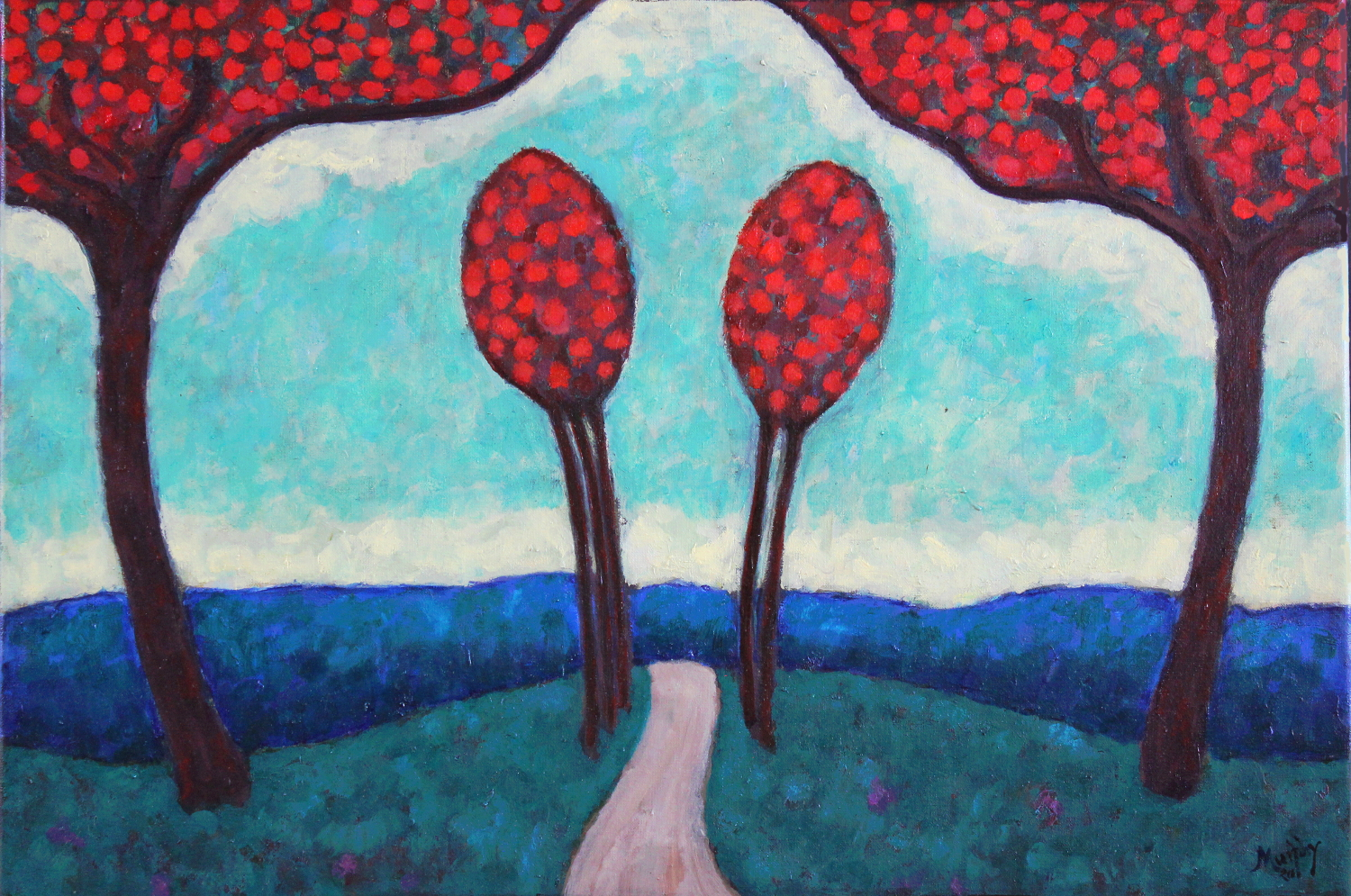 The-Road-to-Campostella-81-x-54-cm-oil-on-canvas-web
