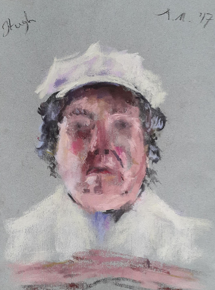 Lord Cavendish pastel on paper 17 x 30 cm - web